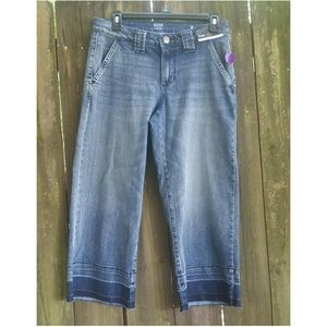 Vintage Blue Cropped Denim Jeans Size 8